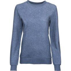 """Bluza z ćwiekami bonprix niebieski """"washed"""". Niebieskie bluzy rozpinane damskie bonprix. Za 109,99 zł."""