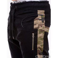 SPODNIE MĘSKIE JOGGERY P387 - CZARNE. Czarne joggery męskie Ombre Clothing, z materiału. Za 79,00 zł.