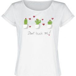 Bluzki asymetryczne: Outer Vision Don´tTouch Me Koszulka damska biały