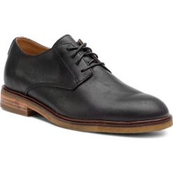 Półbuty CLARKS - Clarkdale Moon 261362537 Black Leather. Czarne buty wizytowe męskie Clarks, z materiału. Za 589,00 zł.