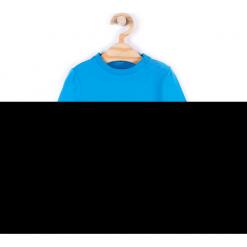 Koszulka. Niebieskie t-shirty chłopięce z długim rękawem HEY BOY, z aplikacjami, z bawełny. Za 29,90 zł.
