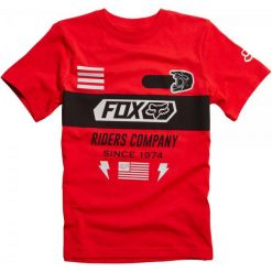 T-shirty chłopięce: FOX T-Shirt Chłopięcy Osage Ss Tee 152 Czerwony