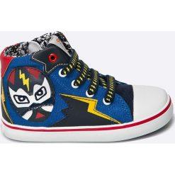Geox - Trampki dziecięce. Szare buty sportowe chłopięce marki Geox, z materiału. W wyprzedaży za 139,90 zł.