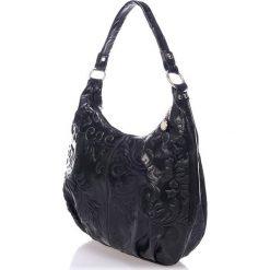 Torebki klasyczne damskie: Skórzana torebka w kolorze czarnym – 38 x 30 x 17 cm