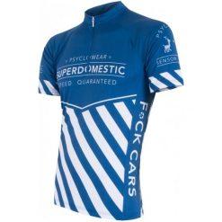Sensor Męska Koszulka Z Krótkim Rękawem Cyklo Superdomestic Blue. Niebieskie odzież rowerowa męska Sensor, m. W wyprzedaży za 179,00 zł.