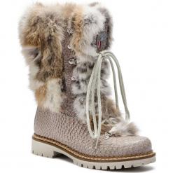 Kozaki NEW ITALIA SHOES - 1415400A/32 Grey. Szare buty zimowe damskie marki New Italia Shoes, z nubiku, na obcasie. Za 1789,00 zł.