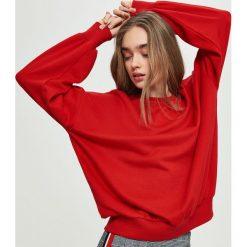 Bluzy damskie: Bluza oversize – Czerwony