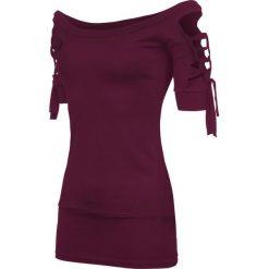 Outer Vision Kork Koszulka damska bordowy. Czerwone t-shirty damskie Outer Vision, l, z dekoltem na plecach. Za 99,90 zł.