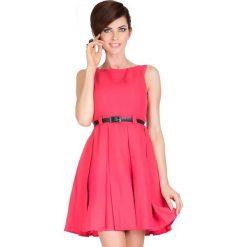 Sukienki: Klara SUKIENKA KONTRAFAŁDA – koralowy