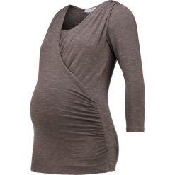 Bluzki asymetryczne: Envie de Fraise GENNA  Bluzka z długim rękawem brownish grey