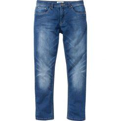 Dżinsy dresowe Regular Fit Straight bonprix niebieski. Zielone jeansy męskie regular marki bonprix, w kropki, z kopertowym dekoltem, kopertowe. Za 109,99 zł.