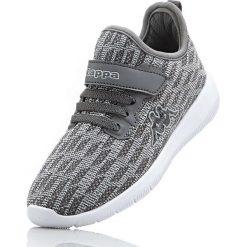 Sneakersy Kappa bonprix szaro-jasnoszary. Szare buty sportowe chłopięce bonprix, z materiału, na sznurówki. Za 89,99 zł.