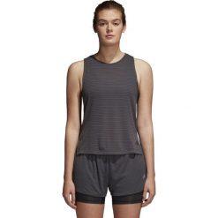 Bluzki asymetryczne: Adidas Koszulka damska Chill Tank grafitowa r. XS (CF3798)