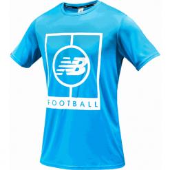 Koszulka treningowa MT833017PLR. Niebieskie koszulki sportowe męskie New Balance, m, z materiału. Za 129,99 zł.