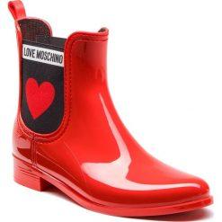 Kalosze LOVE MOSCHINO - JA21013G16IJ0500 Rosso. Czerwone buty zimowe damskie Love Moschino, z materiału. Za 479,00 zł.