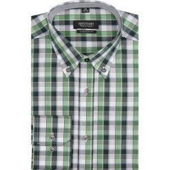 Koszula carral 1754 długi rękaw custom fit zielony. Zielone koszule męskie Recman, m, z długim rękawem. Za 29,99 zł.