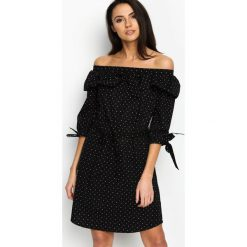 Sukienki: Czarna Sukienka Flamenco Dots
