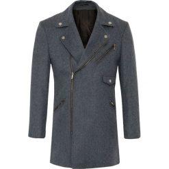 Płaszcz VITTORIO 16-35WK. Szare płaszcze na zamek męskie Giacomo Conti, na jesień, m, z wełny. Za 999,00 zł.
