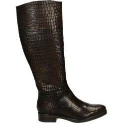 Kozaki - 274002FY C TA. Czarne buty zimowe damskie Venezia, ze skóry. Za 389,00 zł.