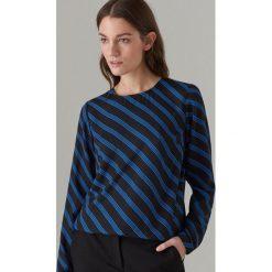672ed8c613f1 Elegancka bluzka z długimi rękawami - Czarny. Czarne bluzki damskie Mohito