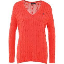 Swetry klasyczne damskie: Polo Ralph Lauren SIDE SLIT Sweter tomato