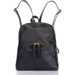 """Plecaki damskie: Skórzany plecak """"Rachel"""" w kolorze czarnym – 26 x 30 x 10 cm"""