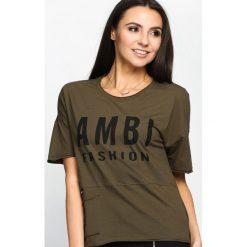 T-shirty damskie: Khaki T-shirt Ambitiousness