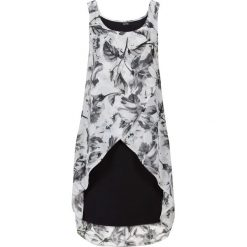 Sukienki: Sukienka z kwiatowym nadrukiem bonprix czarno-szary z nadrukiem