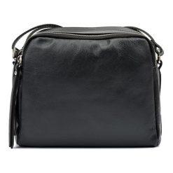 Torebki klasyczne damskie: Skórzana torebka w kolorze czarnym – (S)20 x (W)22 x (G)9 cm