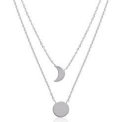 Naszyjniki damskie: Srebrny naszyjnik z elementem ozdobnym – dł. 40 cm