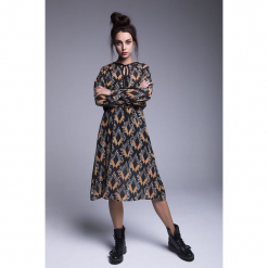 Naoko - Sukienka Katnis. Szare długie sukienki marki NAOKO, l, z elastanu, casualowe. Za 219,90 zł.