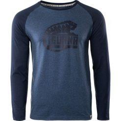IGUANA Koszulka męska Themba dark denim melange/dress blues r. L. Brązowe koszulki sportowe męskie marki IGUANA, s. Za 63,54 zł.