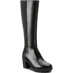 Kozaki SERGIO BARDI - Apricale FW127275117CS 101. Czarne buty zimowe damskie Sergio Bardi, z materiału, przed kolano, na wysokim obcasie, na obcasie. W wyprzedaży za 299,00 zł.