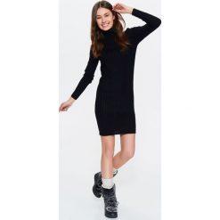 Sukienki: SUKIENKA DAMSKA SWETROWA Z GOLFEM
