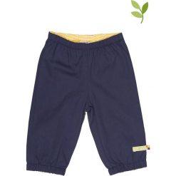 Spodnie niemowlęce: Spodnie outdoorowe w kolorze granatowym