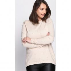 Jasnobeżowy Sweter Fast Drive. Szare swetry klasyczne damskie Born2be, l, z okrągłym kołnierzem. Za 59,99 zł.