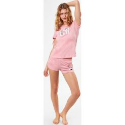 Etam - Top piżamowy Chloe. Niebieskie piżamy damskie marki Etam, l, z bawełny. W wyprzedaży za 39,90 zł.