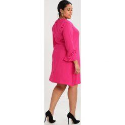 Sukienki hiszpanki: Evans TIE FRILL SLEEVE DRESS Sukienka letnia hot pink