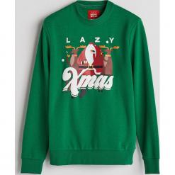 Bluza z motywem świątecznym - Khaki. Brązowe bluzy męskie rozpinane marki LIGNE VERNEY CARRON, m, z bawełny. Za 59,99 zł.