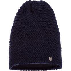 Czapki damskie: Fioletowa prążkowana czapka QUIOSQUE