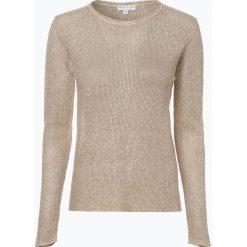 Marie Lund - Sweter damski z lnu, beżowy. Brązowe swetry klasyczne damskie Marie Lund, l. Za 229,95 zł.