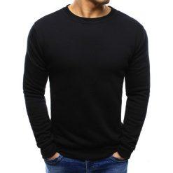 Bluzy męskie: Bluza męska bez kaptura czarna (bx2416)