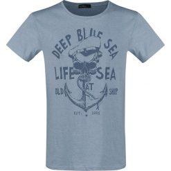 T-shirty męskie: Urban Surface Old Ship T-Shirt niebieski