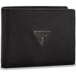 Duży Portfel Męski GUESS - SM2500 LEA20  BLA. Czarne portfele męskie marki Guess, ze skóry. Za 259,00 zł.