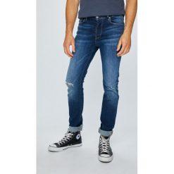 Review - Jeansy Simon. Szare jeansy męskie slim Review. W wyprzedaży za 159,90 zł.