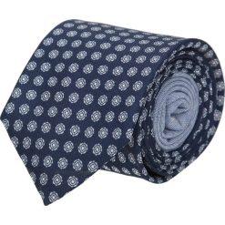 Krawat winman granatowy classic 203. Niebieskie krawaty męskie Recman, w geometryczne wzory, z bawełny. Za 129,00 zł.