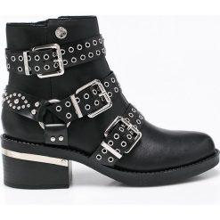 Guess Jeans - Botki. Czarne buty zimowe damskie Guess Jeans, z jeansu. W wyprzedaży za 569,90 zł.