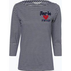 Tommy Hilfiger - Damska koszulka z długim rękawem, niebieski. Niebieskie t-shirty damskie TOMMY HILFIGER, l, z nadrukiem. Za 179,95 zł.