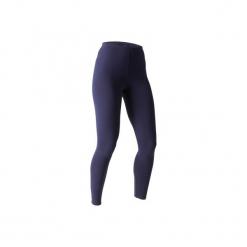 Legginsy Slim Gym & Pilates Stretch 100 damskie. Niebieskie legginsy sportowe damskie DOMYOS, l, z bawełny. Za 19,99 zł.