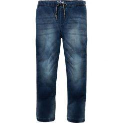 """Dżinsy dresowe bonprix niebieski """"stone"""". Czarne dresy chłopięce marki bonprix, w paski, z dresówki. Za 79,99 zł."""